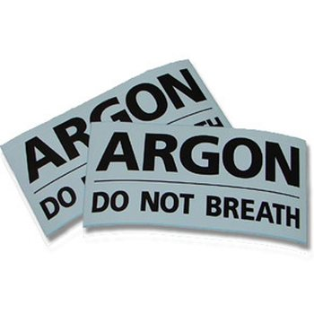 "BtS Varoitustarra ""ARGON: DO NOT BREATHE"""