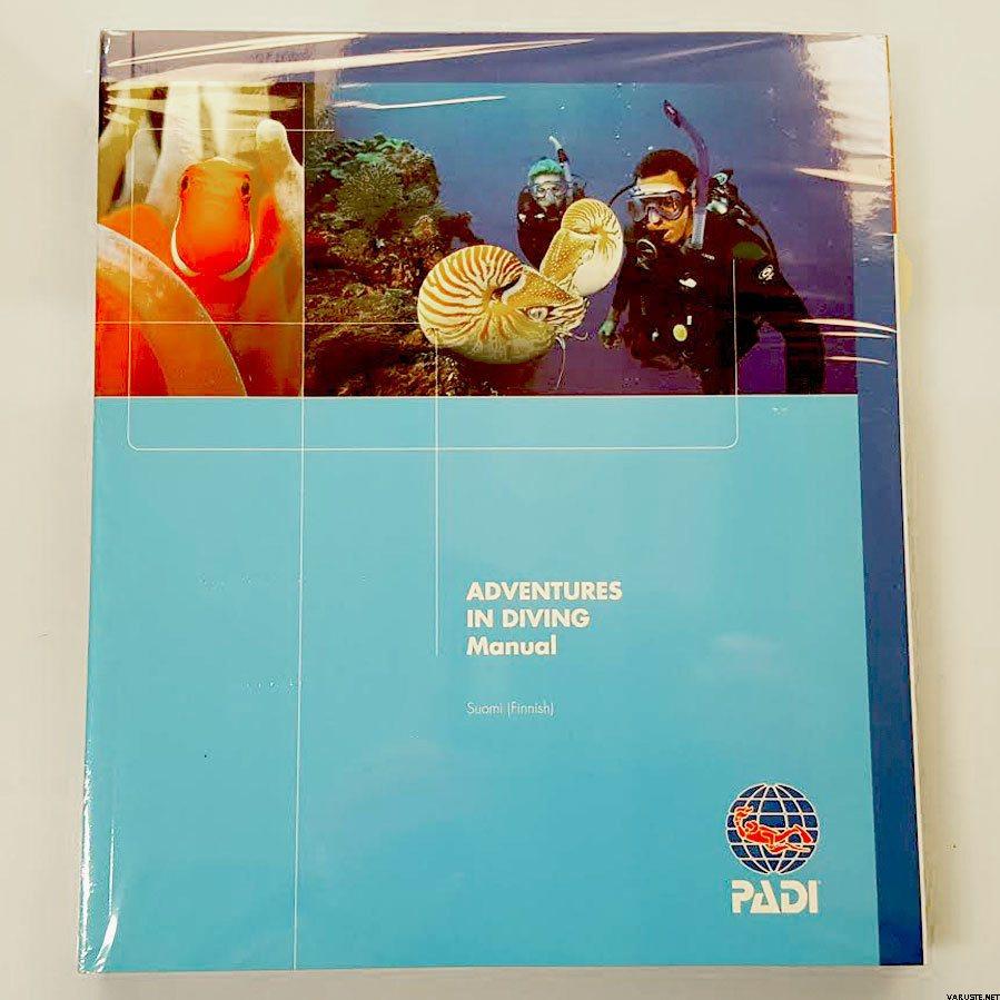 PADI Advanced Open Water Diver - manual + slate